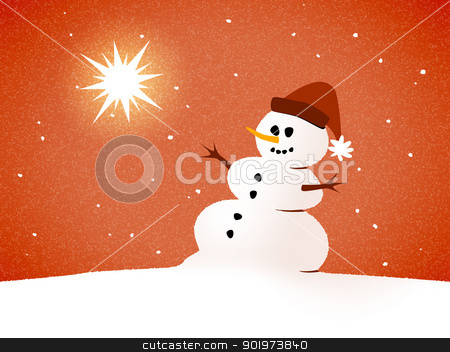 snowman card stock photo, An image of a beautiful snowman card by Markus Gann
