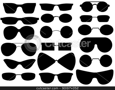 Sunglasses stock vector clipart, Sunglasses illustration on white background by Smultea Simona