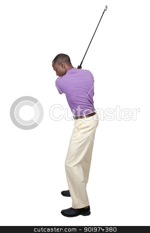 Man Golfer stock photo, Handsome man playing a round of the sport known as golf by Robert Byron