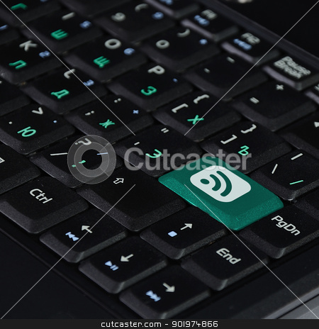 Speaker Icon on Computer Keyboard stock photo, Speaker Icon on Computer Keyboard Original Illustration by Sergey Nivens
