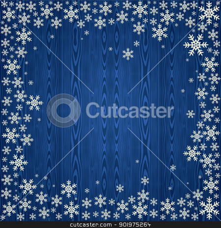 Christmas snowflakes background stock vector clipart, Blue Christmas snowflakes background. Vector illustration layered for easy manipulation and custom coloring. by Cienpies Design