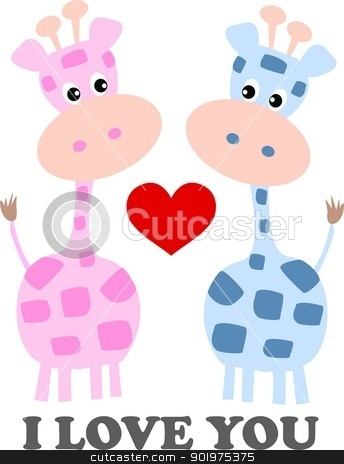I love you stock vector clipart, I love you by Popocorn