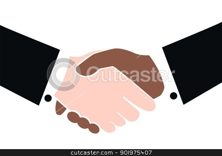 shaking hands  stock vector clipart, shaking hands  by Popocorn