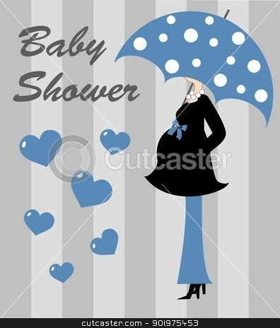 baby shower stock vector clipart, baby shower boy by Popocorn