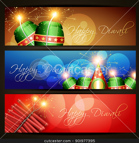 diwali festival headers stock