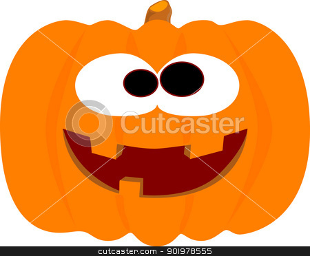 Happy Halloween Pumpkin stock vector clipart, An easily editable, laughing halloween pumpkin. by Kotto