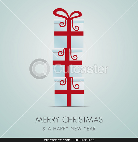 red white gift box stack stock photo, merry christmas red white gift box stack by d3images