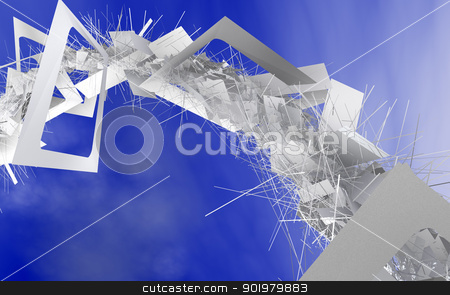 Abstract background stock photo, Abstract image with sky and paper.Recycling concept by carloscastilla