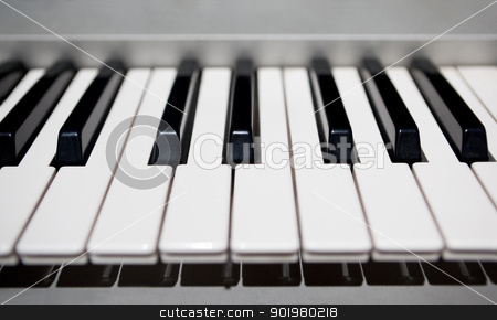 Piano stock photo, Close up image of piano's keys by carloscastilla