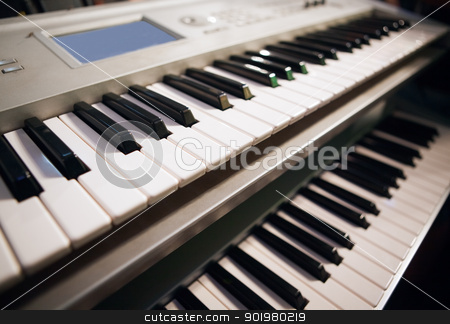 pianos stock photo, Close up image of two pianos by carloscastilla