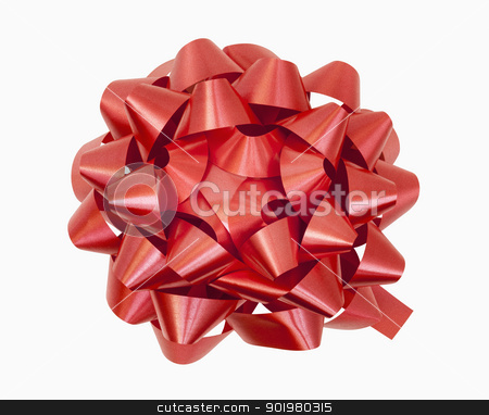 Red Bow stock photo, Red bow, includes clipping path by Bryan Mullennix