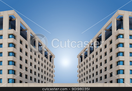 modern building stock photo, Front image of modern building by carloscastilla
