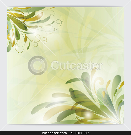 splashes of green stock photo, Splashes of green liquid from corner. Vector illustration. by Kotkoa