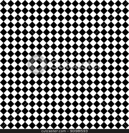 Black & White Diamond Checks stock photo, Seamless black and white angled checkerboard pattern by SongPixels