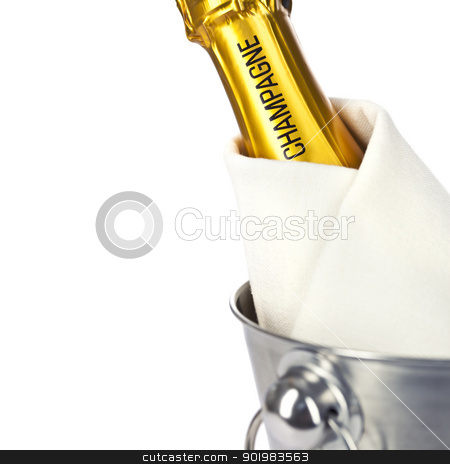 Champagne stock photo, Photo of the top of a Champagne bottle by klenova