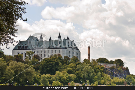 Behind Supreme Court stock photo, The Supreme Court of Canada viewed from behind where it faces the Ottawa river. by Michel Loiselle