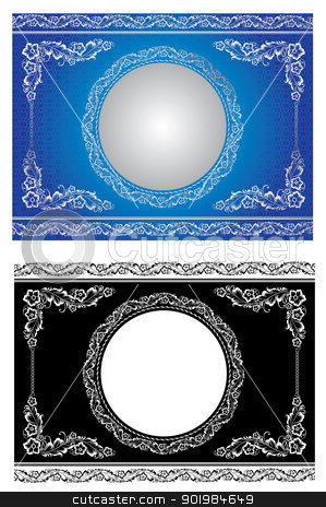 white radial ornament stock photo, Ornament in style of Russian national tradition - vector illustration by Kotkoa