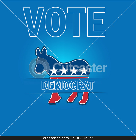 American Voting Campaign Democrat Applique Vector Background. stock vector clipart, American Voting Campaign Democrat Applique Vector Background. by Erdem