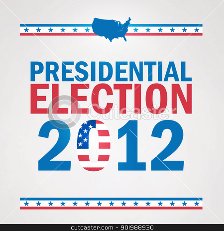 United States Presidential Election in 2012. stock vector clipart, United States Presidential Election in 2012. by Erdem