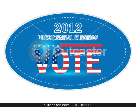 United States Presidential Election Stickers In 2012 stock vector clipart, United States Presidential Election Stickers In 2012 by Erdem