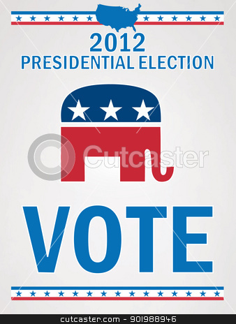 Vote Republican Poster stock vector clipart, Vote Republican Poster by Erdem