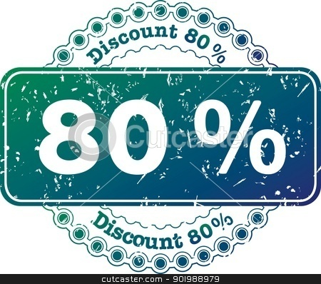 Stamp Discount Eighty Percent stock photo, illustration stamp discount eighty percent by Čerešňák