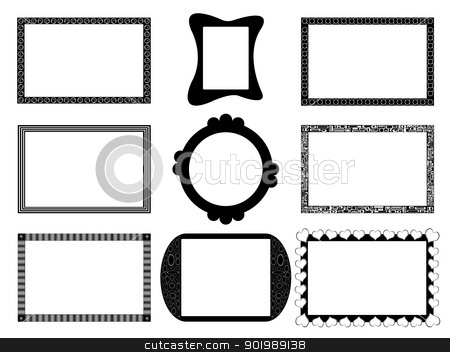 Photo frame collection stock vector clipart, Photo frame collection on white background by Smultea Simona