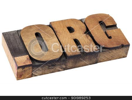 dot org - nonprofit internet domain stock photo, dot org internet domain  - network address  for nonprofit  organization - isolated text in vintage letterpress wood type by Marek Uliasz