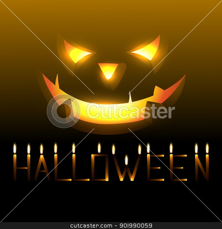 halloween vector stock vector clipart, vector scary happy halloween design by pinnacleanimates