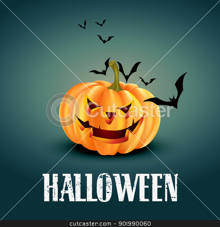 halloween background stock vector clipart, vector scary halloween design illustration by pinnacleanimates