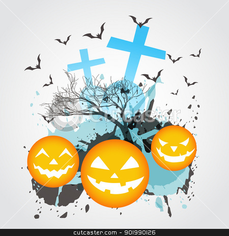 abstract halloween art stock vector clipart, abstract halloween vector design art by pinnacleanimates