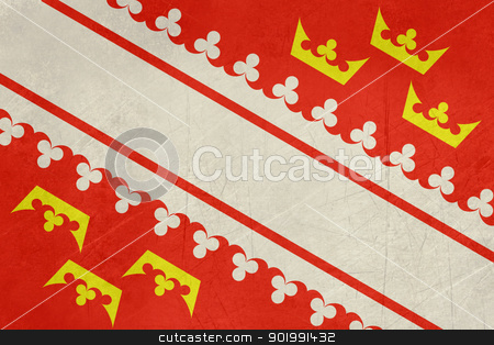 Grunge Alasace flag stock photo, Grunge illustration of French provine of national state of Alsace, France.  by Martin Crowdy