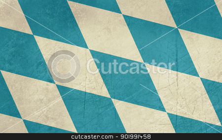 Grunge Bavarian flag stock photo, Grunge illustration of German Bavarian state flag or banner. by Martin Crowdy