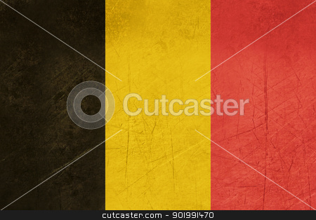 Grunge Belgium Flag stock photo, Grunge sovereign state flag of country of Belgium in official colors. by Martin Crowdy