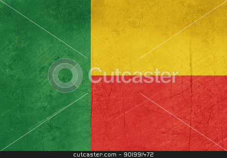 Grunge Benin Flag stock photo, Grunge Sovereign state flag of country of Benin in official colors. by Martin Crowdy