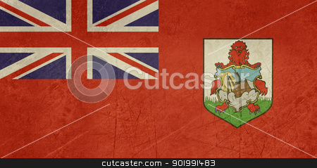 Grunge Bermuda Flag stock photo, Grunge sovereign state flag of dependent country of Bermuda in official colors.  by Martin Crowdy