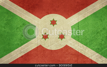 Grunge Burundi flag stock photo, Grunge sovereign state flag of country of Burundi in official colors. by Martin Crowdy