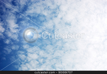 Sunny sky background stock photo, Sunny sky background. by Nenov Brothers Images