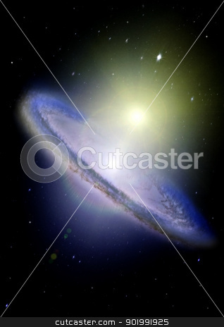 Far away galaxy stock photo, Stars of a planet and galaxy in a free space by Anatolii Vasilev
