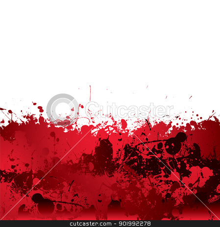 Blood splatter background stock vector clipart, Red blood splatter background with dribble effect by Michael Travers