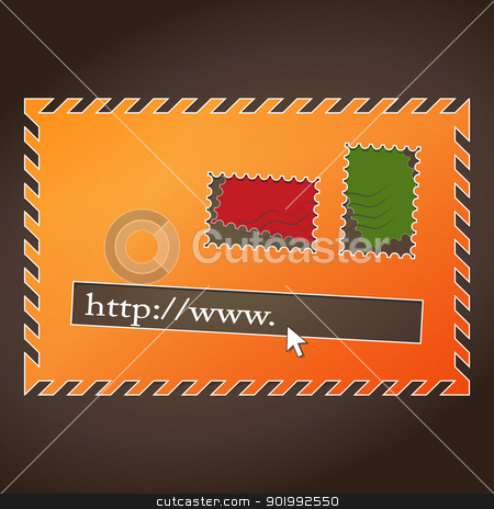 web mail stock vector clipart, new image of web design elements like old style mail by metrue