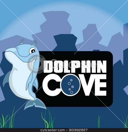 Dolphin Cove stock photo, Branding Design by NextGenDesigner