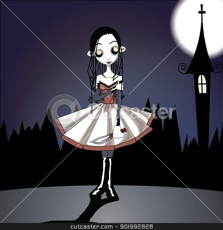 Hell Girl stock photo, Character Illustration Design by NextGenDesigner