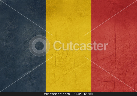 Grunge Chad Flag stock photo, Grunge sovereign state flag of country of Chad in official colors. by Martin Crowdy