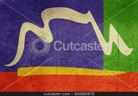 Grunge City of Cape town flag stock photo, Illustration of city of Cape Town flag from South Africa. by Martin Crowdy