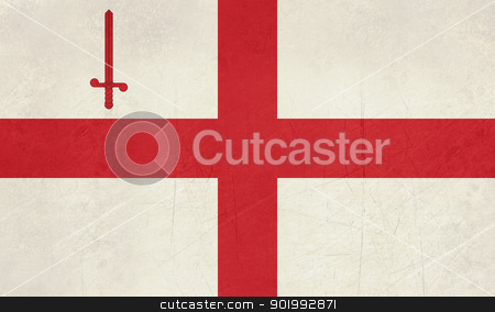 Grunge City of London flag stock photo, Grunge flag of the city of London in England. by Martin Crowdy