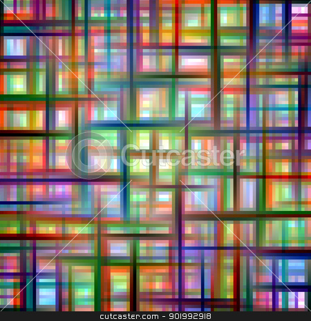Multicolored grid matrix abstract pattern. stock photo, Multicolored grid matrix abstract pattern. by Stephen Rees