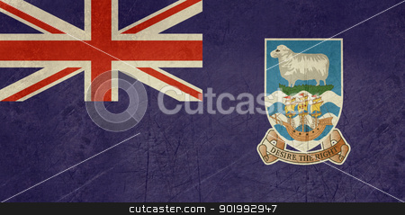 Grunge Falkland Islands flag stock photo, Grunge sovereign state flag of dependent country of Falkland Islands in official colors.  by Martin Crowdy