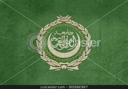 Grunge Flag of the Arab League stock photo, Grunge background illustration of the Flag or the Arab League. by Martin Crowdy