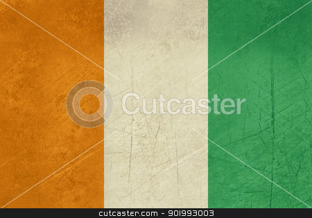 Grunge Ivory Coast flag stock photo, Grunfe sovereign state flag of country of Ivory Coast in official colors. by Martin Crowdy